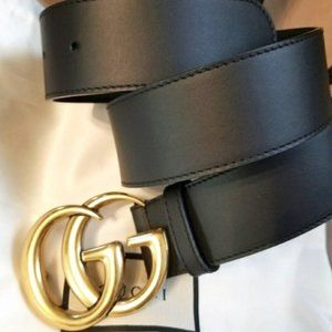 """NWT Black GG Marmont Belt Width: 3CM "" 85cm"